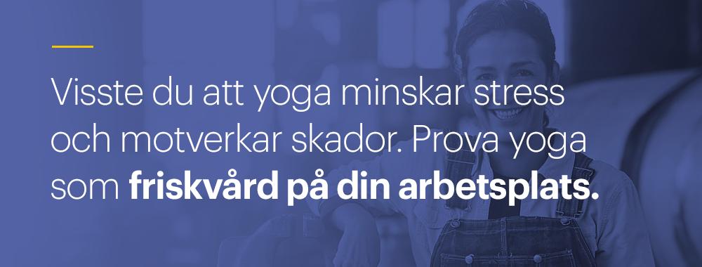 Yoga som friskvård på Yogashala Stockholm