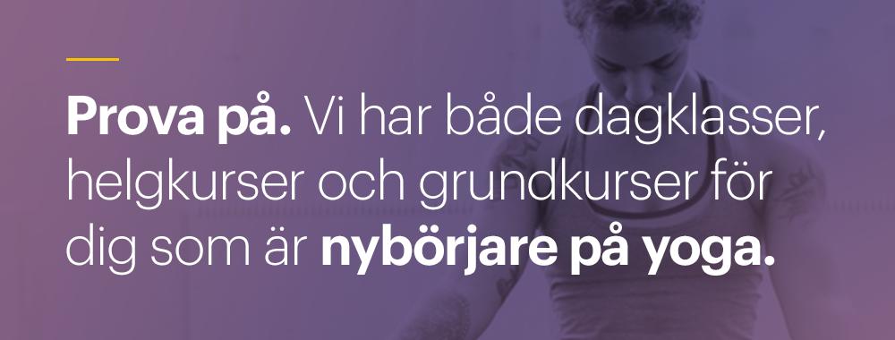 Yoga för nybörjare på Yogashala Stockholm