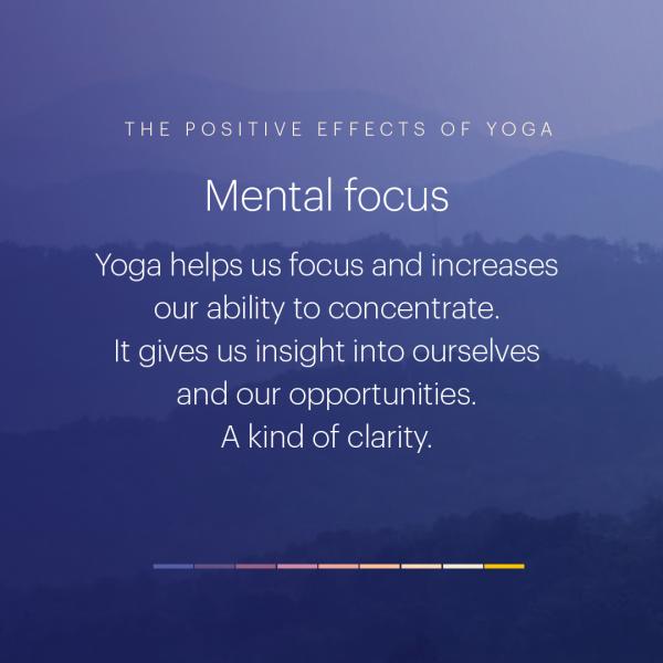 Yogans positiva effekter
